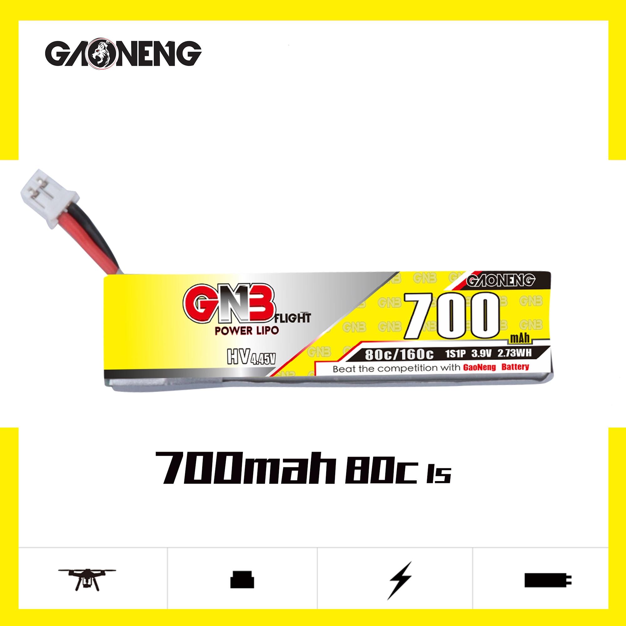 Gaoneng GNB 1S 3.9V HV 700mAh 80C Lipo