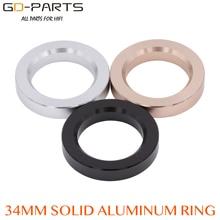 34*23*6mm Machined Full Aluminum Base Ring Decorating Circle Washer For Vintage Hifi Audio 6N1 12AX7 12AU7 ECC81 Tube AMP DIY *1
