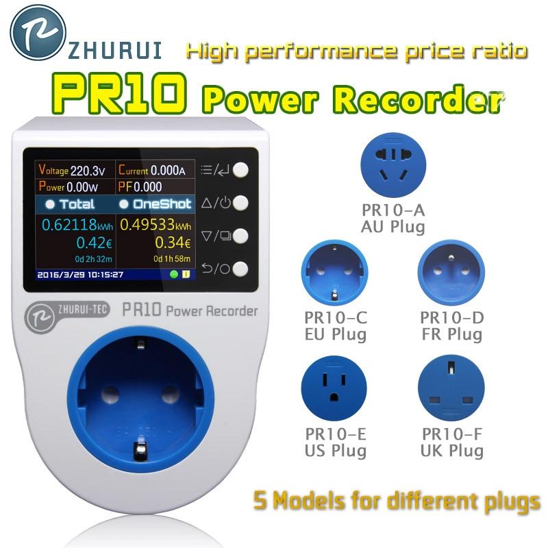 ZHURUI PR10 домашняя измерительная розетка/домашний счетчик энергии/счетчики электроэнергии/16 единиц валюты