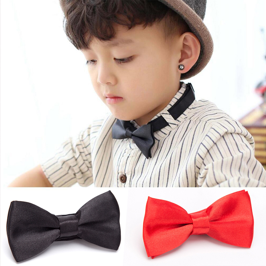 Children Kid Bowtie Baby Bow Tie Fashion Green Red Black White Green Pets Cravate Ties Accessories Boys Grils Bowtie