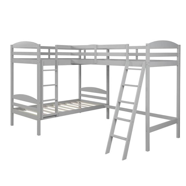 Twin over Twin Bunk Beds with Slide Loft Bed 5