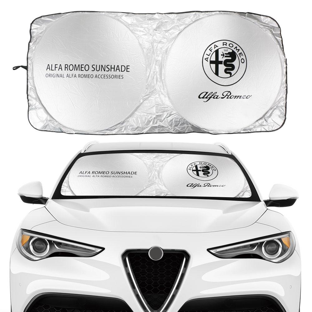 Car Windshield Sun Shade Cover For Alfa Romeo Logo Pattern 159 147 Giulietta Stelvio 4C MITO 156 Accessories Anti UV Reflector