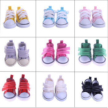 Doll Shoes 5Cm Mini Fashion PU Canvas Shoes For 14.5 Inch Wellie Wisher&Nancys&32-34 Cm Paola Reina Russian Toys,Children's Gift image