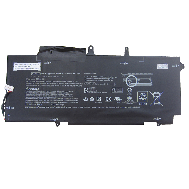 GZSM Laptop Battery BL06XL For HP HSTNN-DB5D BL06042XL HSTNN-W02C Battery For Laptop Elitebook Folio 1040  G1 G2 Series Battery