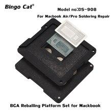 DS-908 BGA Reballing Schablone Löten Tool Kit für Macbook Air/Pro Alle BGA Chips Für Macbook 2010-2018 zinn Pflanzung Plattform