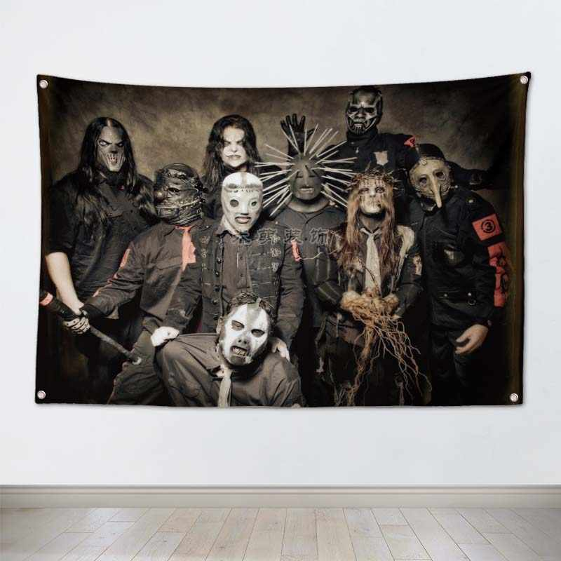 SLIPKNOT Rock Band Poster wall sticker Hanging Art Waterproof Cloth Polyester Fabric Flags banner Bar Cafe Hotel Decor