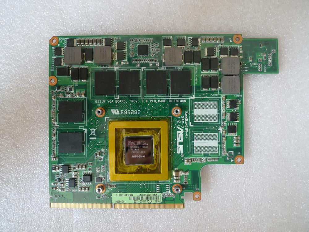 Kai-Full для Asus G53SW G53SX G53JW VGA карта графическая карта GTX 560M 2GB N12E-GS-A1 DDR5