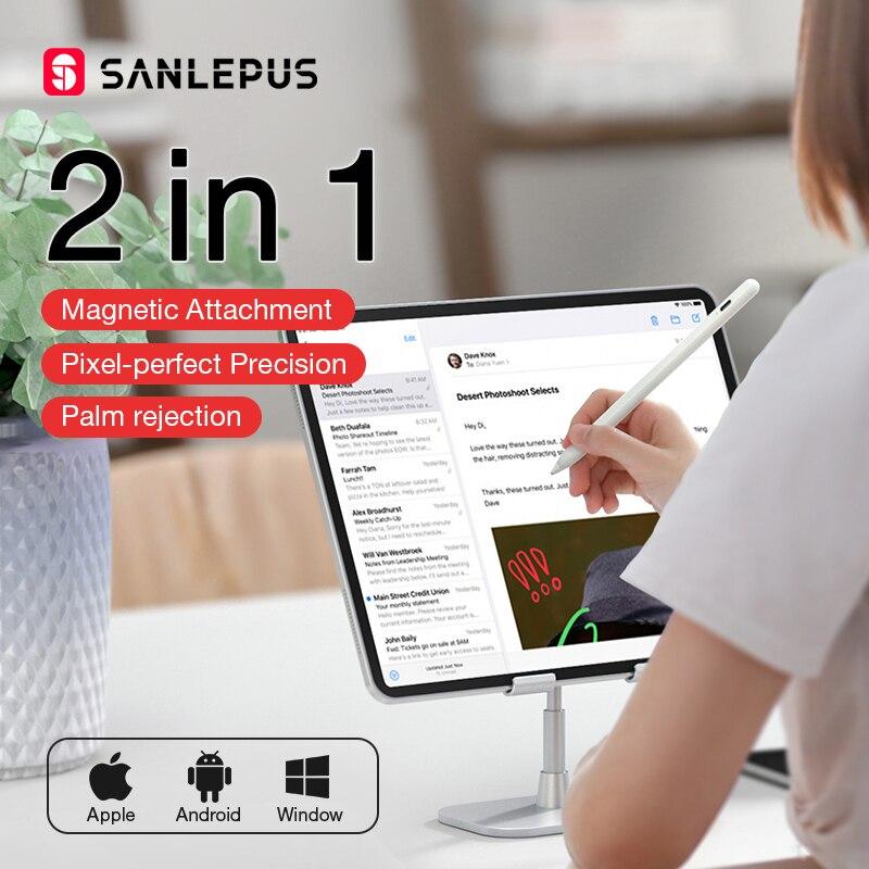 SANLEPUS פעיל Stylus עט עבור Apple עיפרון 2 iPad אנדרואיד טבליות טלפון סמסונג Xiaomi פרו אוויר 3 אוניברסלי ציור מגע עיפרון