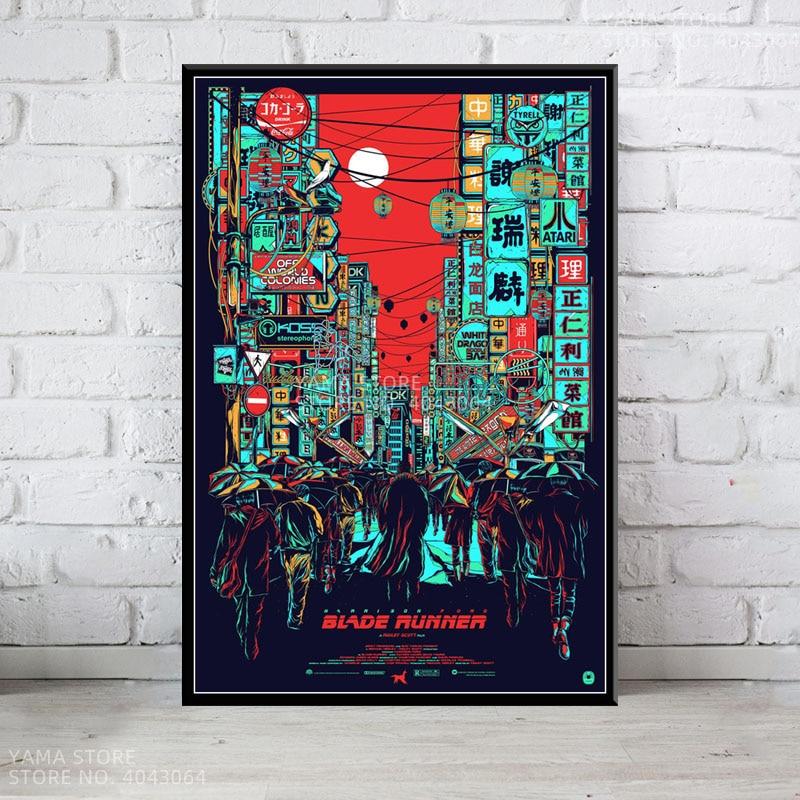 J034 бегунок лезвия 2049 классический научный фантастический фильм подарок настенный художественный Декор картина плакат печать на холсте гос...