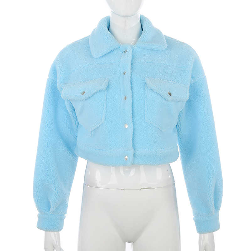 Darlingagaファッション子羊ウール秋冬コートの女性のジャケットフリースシャギー暖かい丈ジャケットオーバーコートシングルブレスト生き抜く