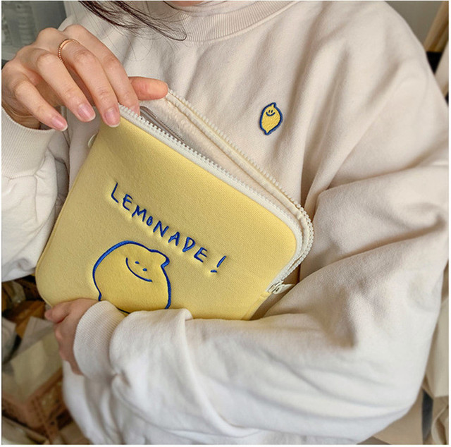 Korea Ipad Pro 9.7 10.8 11Inch Laptop Case Bag Korean Ins Lemon Cartoon 11 13 15 inch Tablet Protective Inner Sleeve Bag Pouch 6
