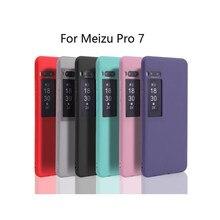 Para meizu pro 7 silicone tpu capa para meizu pro7 pro 7 ctystal claro e fosco cores sólidas caso macio