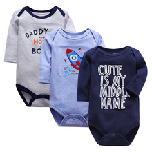 2019 3PCS/lot Clothing Sets Cotton Newborn Unicorn Baby Girl Clothes Bodysuit Ropa bebe Boy