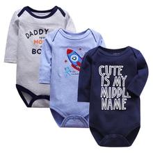 2019 3PCS/lot Clothing Sets Cotton Newborn Unicorn Baby Girl Clothes Bodysuit Ropa bebe Boy