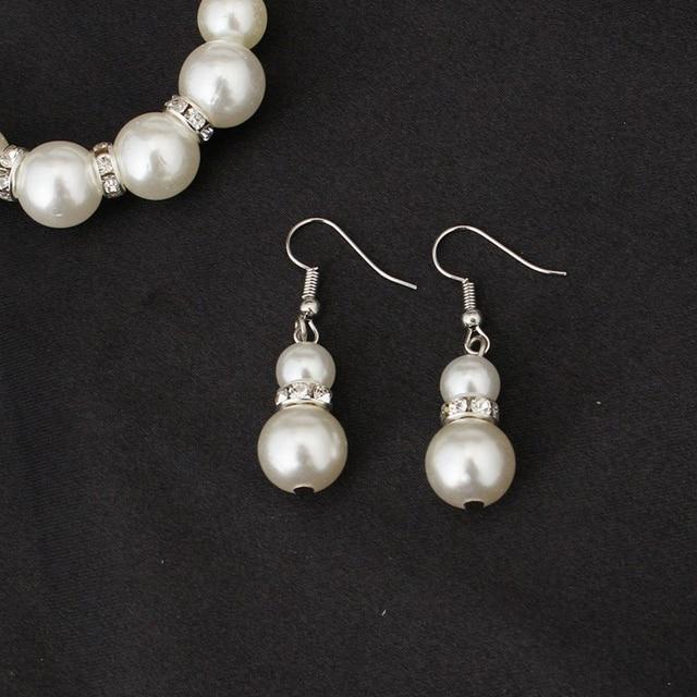 Classic White Pearl Jewelry Set 5