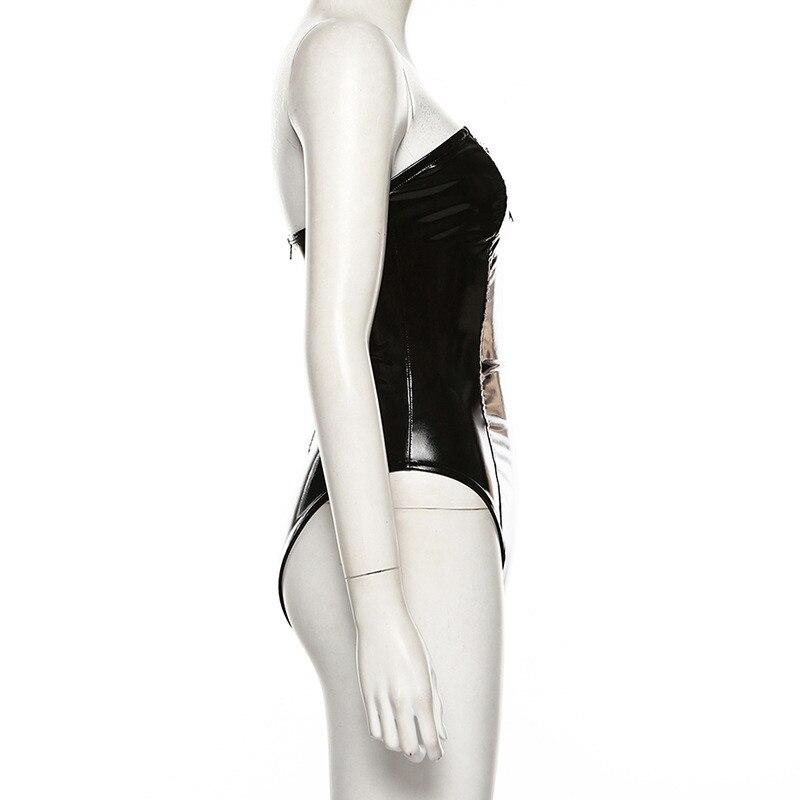pu bodysuit women13