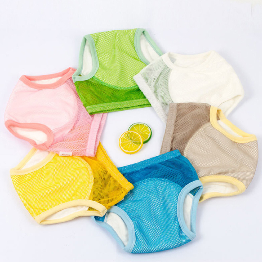 Summer Potty Training Pants Baby Boy Girl Nappies Diapers Mesh Breathable Reusable Toilet Learning Panties Underwear Baby Suits