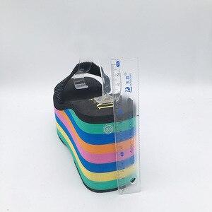 Image 5 - คุณภาพสูงEVA Soleผู้หญิงสายรุ้งลายสไลด์แพลตฟอร์มWEDGEหนาด้านล่างรองเท้ารองเท้าส้นสูงรองเท้าแตะรองเท้าแตะ