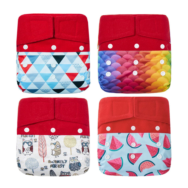 Thank U Mom Hook & Loop Washable Cloth Diaper Baby Pocket Diaper PUL Fabric Reusable Nappies Couche Lavable Fralda De Pano