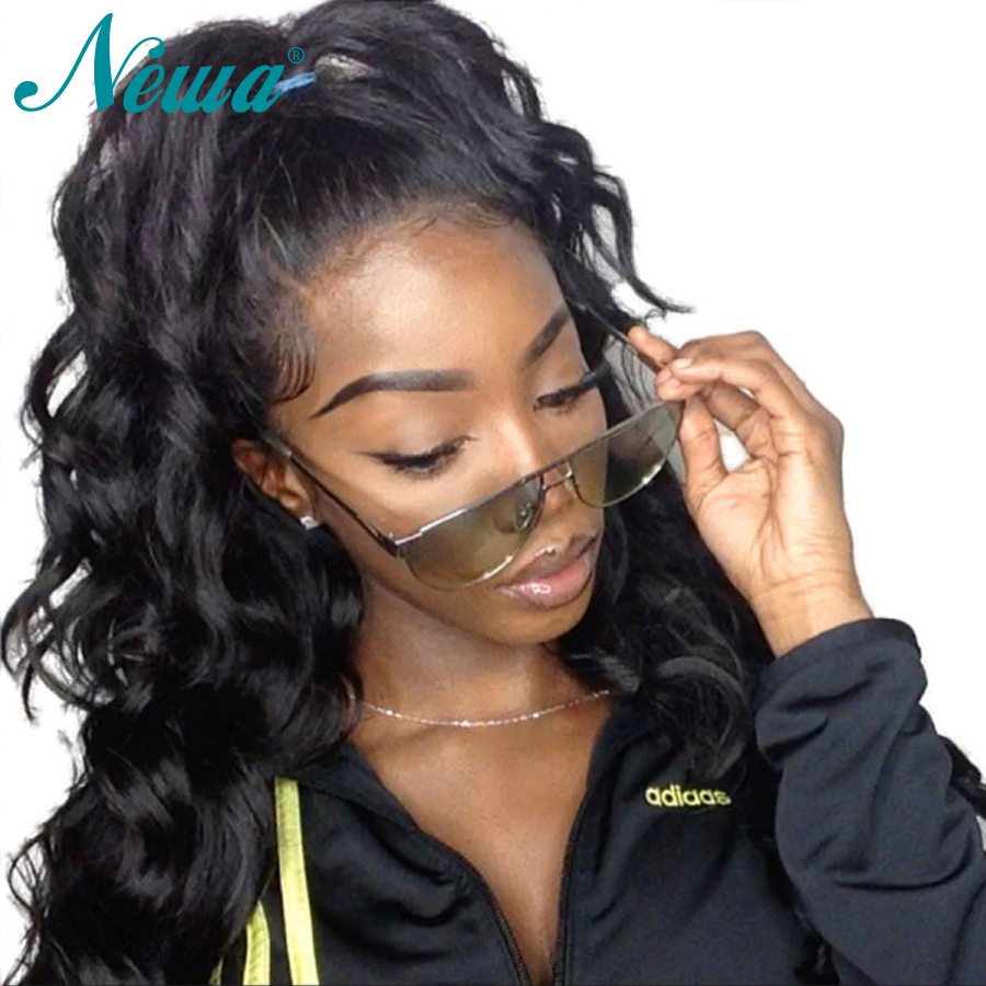 Newa Hair 13x6 Lace Front Wig Pre Plucked With Baby Hair 370 Fake Scalp Wig Loose Wave Remy Lace Front Human Hair Wigs For Women