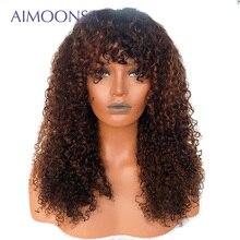 가발 13x6 딥 파트 허니 블론 레이스 프론트 인간의 머리 가발 흑인 여성을위한 1b/30 변태 곱슬 인간의 가발 bang 레미