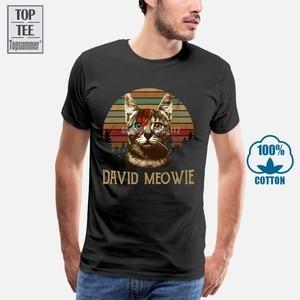 Давид футболка Боуи Давид Мео винтажная Ретро Мужская черная футболка M 3Xl