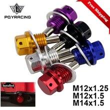 M12x1.5 M12x1.25 M14 * 1.5 magnetyczny korek spustowy oleju magnetyczne miska olejowa nakrętka PQY ODP12125/1215/1415