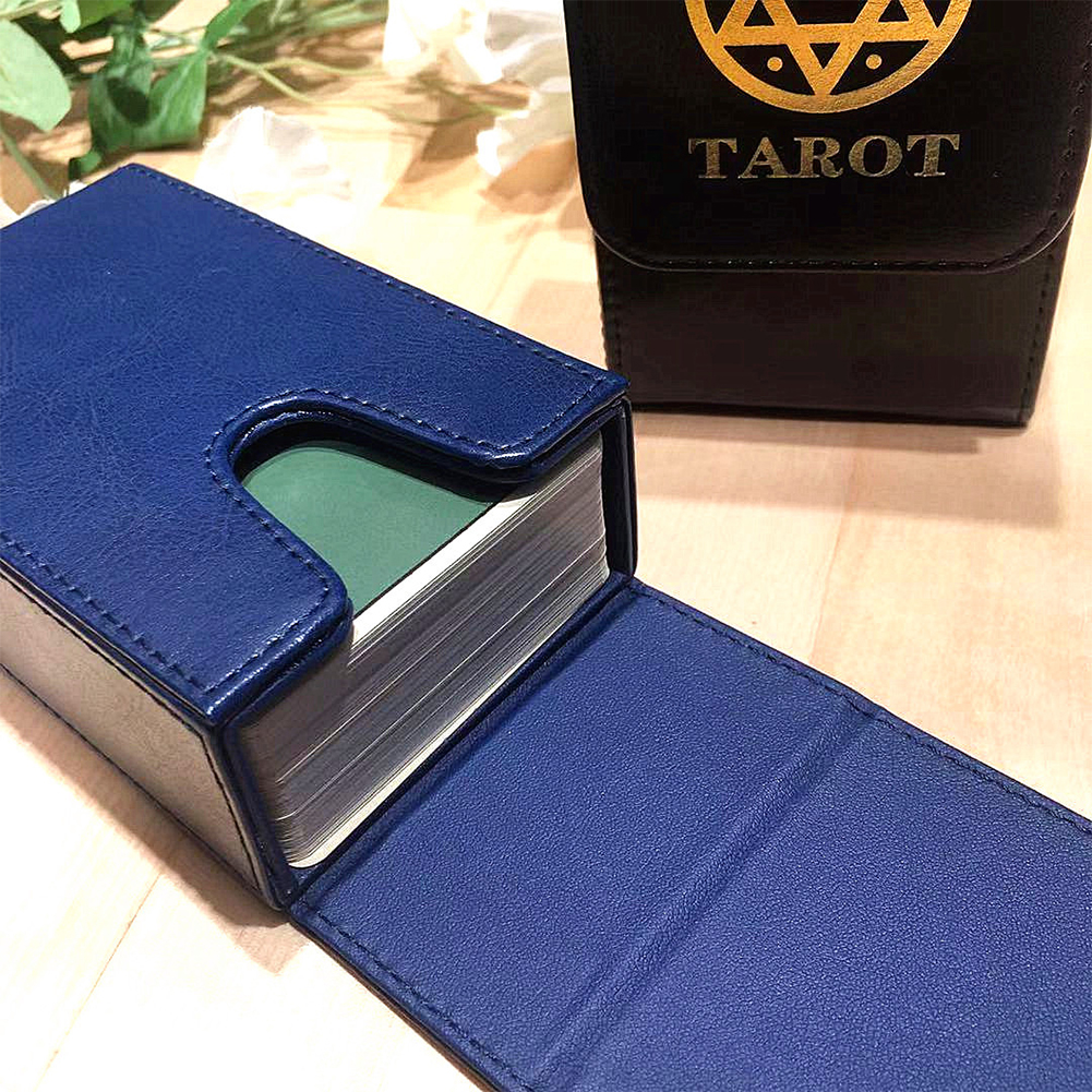 High Quality Tarot Storage Box Double Leather Collection Board Game Game Card Box Portable Tarot Card Box