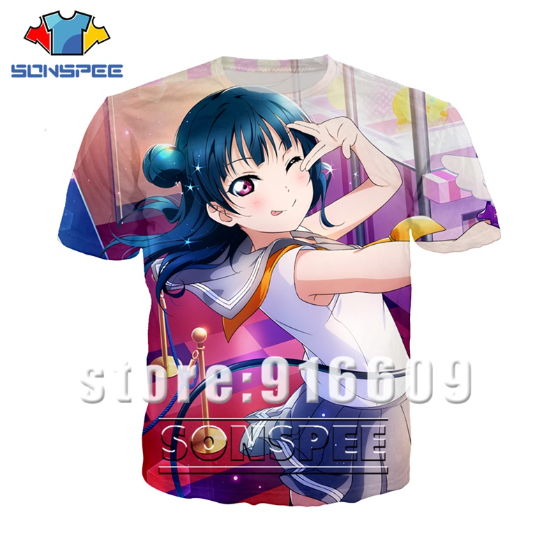 Anime 3d Print T Shirt Streetwear Sexy Loli Girl Love Live Funny Men Women Fashion T-shirt Kid Harajuku Game Shirts Homme Tshirt