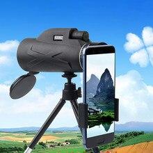 Monokularowy Spyglass 80x100 teleskop HD mocna lornetka profesjonalny słaby noktowizor Zoom polowanie luneta Camping