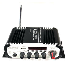 Car Digital Audio Player Bluetooth Power Amplifier 2CH x 20W Hi-Fi Stereo BASS AMP with MIC Karaoke Reverberation HY-V11 nktech lp 2051 digital audio amplifier hi end bass hi fi stereo audio home car class t 2ch tri path player 50w x 2 rms amplifier