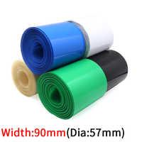 Envoltura de película de batería de litio, cubierta de Tubo termorretráctil de PVC, paquete de funda de Cable aislante, protección Multicolor, 90mm de ancho, 18650