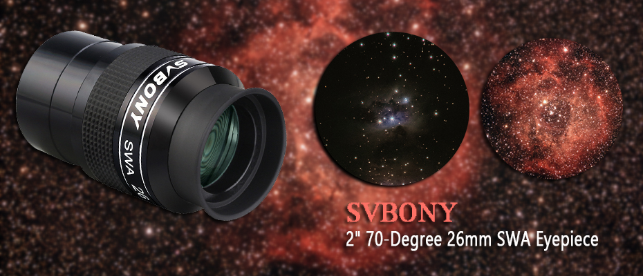 Svbony SV154 Telescope Eyepiece 2in 70/° Super Wide Angle Eyepiece 26mm FMC Achromatic Eyepiece for Telescope 2in/&26mm