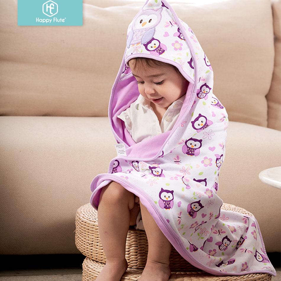 Happy Flute 78*78cm 1 Pcs Baby Kids Hooded Bath Towel / Cartoon Baby Bathrobe / Bath Essential/ Baby Blanket