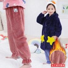 Фланелевые штаны для сна; Детские домашние штаны; рост 110-160 см; для зимы; 1156