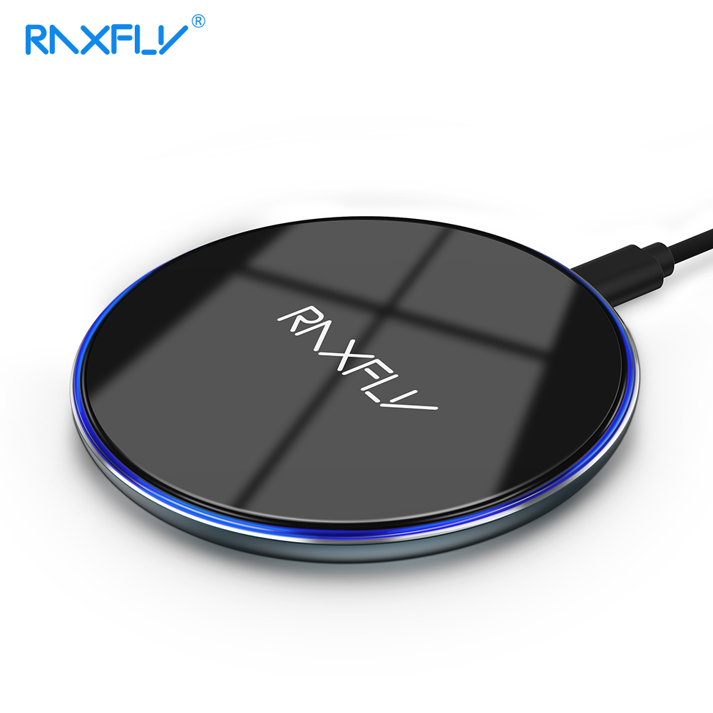 RAXFLY 10W QI Wireless Charger For iPhone 11 Pro MAX XS XR X 8 Plus Wireless Charging Pad for Samsung S8 S9 S10 Note 10 Plus