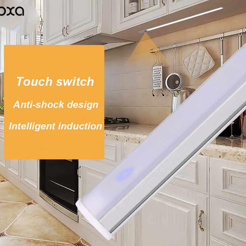 Светодиодный светильник с сенсорным выключателем, световая полоса DOXA белого цвета, теплый белый в гардеробах, книжных шкафах Kitchen12V 6-24 Вт, ночник GY041