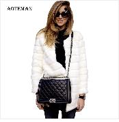 Autumn Winter Coat Women 2019 Fashion Vintage Slim Double Breasted Jackets Female Elegant Long Warm White Coat casaco feminino 89