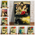 Japanese anime initial d retro poster print modern study living room decoration painting art wall interior design