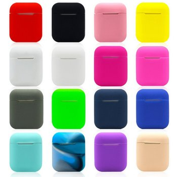 Apple Airpods Wireless Earphone Silicone Protective Case 1/2 Cover Bluetooth Wireless Earphone Protective Case for Charging Case image