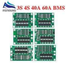 4S 40A Li ion lityum pil 18650 PCB şarj cihazı BMS koruma levhası için denge ile matkap Motor 14.8V 16.8V Lipo hücre modülü