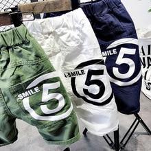 Укороченные штаны для мальчиков летняя одежда г. Новые стильные детские шорты комбинезон повседневные штаны модная летняя детская одежда в Корейском стиле