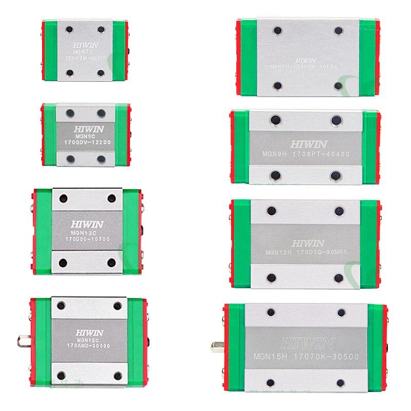2pcs HIWIN Linear Block MGN7C MGN9C MGN12C MGN15C Match Mini Linear Guide Co2 Laser Cnc Router 3D Printer MGN7 MGN9 MGN12 MGN15