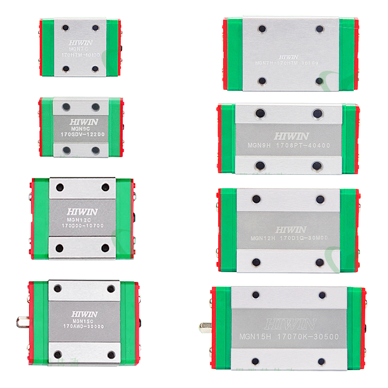 4pcs 100% Original HIWIN Linear Block MGN7C MGN9C MGN12C MGN15C Block Mini Linear Guide CNC Router Part MGN7 MGN9 MGN12 MGN15