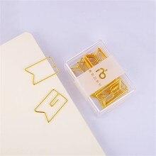12 adet/kutu afiş altın ataşlar Metal papyon Pin ataç Kawaii öğrenci okul ofis klip kırtasiye kaynağı
