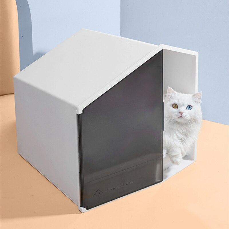 1 маленький домик для кошек, принадлежности для песочницы, полузакрытый кошачий Туалет, песочница, дезодорант, кошачий навоз, раковина