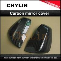 Espelho do carro auto capa espelho caso de fibra carbono espelho capa para bmw f30 2012up (apto f30 320i 328i 335i 12up)