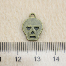 Alibaba Retail Store 1 Piece 15x11mm Skull Charms Diy Charms Art And Craft For Children(China)