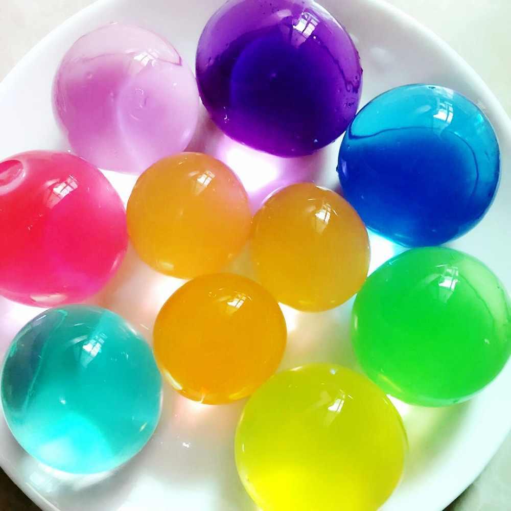 Kinder Kinder Spielzeug Wasser Perlen 7-8 teile/los Große Kristall Boden Schlamm Hydrogel Gel Growing Up Orbiz Wasser Bälle hochzeit Home Decor F