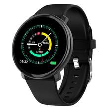 Itisams m31 relógio inteligente tela cheia de toque das mulheres dos homens smartwatch freqüência cardíaca monitor pressão arterial relógios para smartphone